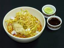 Тайская еда, kai soi khao Стоковое Изображение