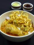 Тайская еда, kai soi khao Стоковое Фото