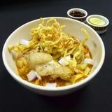 Тайская еда, kai soi khao Стоковая Фотография