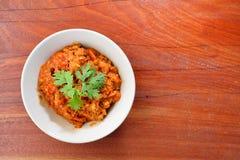 Тайская еда, Nam Pik Aoung, соус chili Стоковые Фото