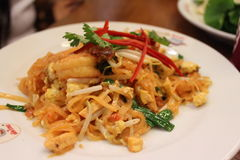 Тайская еда - Padthai Стоковые Изображения RF