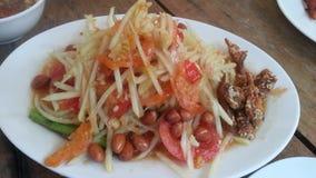 Тайская еда Somtum или папапайя Slad Стоковое фото RF