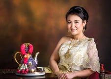 Тайская женщина Стоковая Фотография