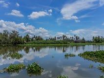 Тайская жизнь рекой Стоковые Изображения RF