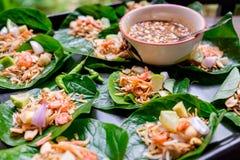 Тайская закуска вызвала Miang Kham Стоковые Фото