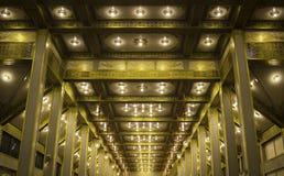 Тайская зала потолка стиля стоковое фото