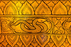 Тайская змейка искусства tradional Стоковое фото RF