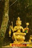 Тайская золотистая статуя Стоковое Изображение