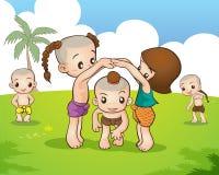 Тайская игра игры культуры Стоковое Изображение RF