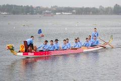 Тайская длинная шлюпка традиционная состязается Стоковое Фото