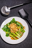 Тайская листовая капуста на соусе устрицы Стоковые Изображения RF