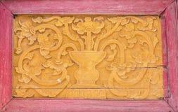 Тайская картина в виске Стоковые Изображения RF