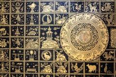 Тайская картина в виске Стоковое Изображение RF