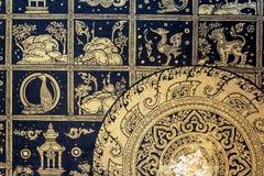 Тайская картина в виске Стоковая Фотография RF