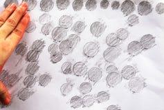 Тайская картина монетки на конспекте белой бумаги Стоковая Фотография