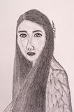 Тайская картина портрета женщин Стоковые Изображения