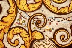 Тайская картина стены стоковое изображение rf