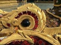 Тайская картина, штукатурка, тайская античная культура Стоковое Изображение RF