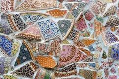 Тайская керамическая стена Стоковое фото RF