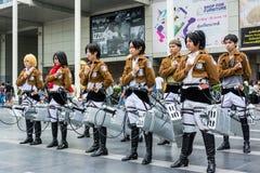 Тайская команда cosplayer от анимации Стоковое фото RF