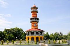 Тайская королевская резиденция на дворце боли челки королевском Стоковое Изображение RF
