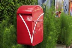 Тайская красная коробка столба Стоковое фото RF