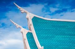 Тайская крыша стиля виска Стоковая Фотография