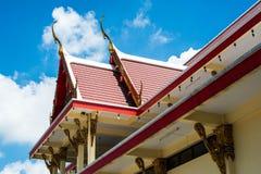Тайская крыша церков виска Стоковое Изображение