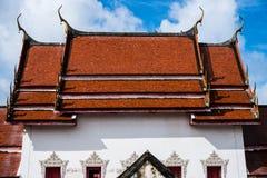 Тайская крыша церков виска Стоковые Фото