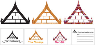 Тайская крыша Иллюстрация вектора