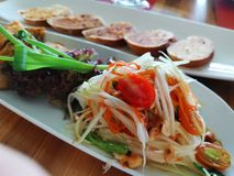 Тайская кухня животика сома стоковое изображение rf