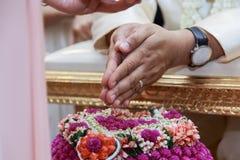 Тайская культура - тайский стиль свадьбы Стоковые Изображения RF
