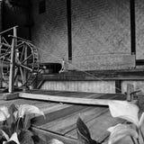 Тайская классическая silk машина Monochrome искусство Стоковое фото RF