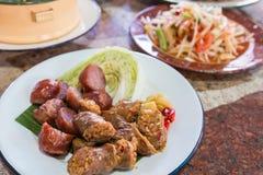 Тайская местная сосиска Стоковое Изображение