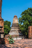 Тайская пагода, висок Wat Yaichaimongkol, старые остатки в Ayut Стоковые Фотографии RF
