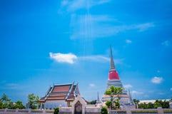 Тайская пагода на Phra Samut Chedi в Samut Prakan, Таиланде Стоковая Фотография RF