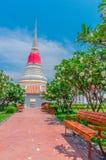 Тайская пагода на Phra Samut Chedi в Samut Prakan, Таиланде Стоковые Изображения RF
