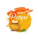 Тайская поздравительная открытка Pongal Стоковая Фотография