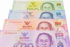 Тайская предпосылка денег банкнот Стоковая Фотография