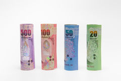 Тайская предпосылка денег банкнот Стоковые Изображения RF