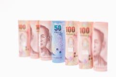 Тайская предпосылка денег банкнот Стоковые Фотографии RF