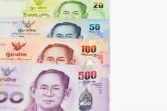 Тайская предпосылка денег банкнот Стоковое Изображение