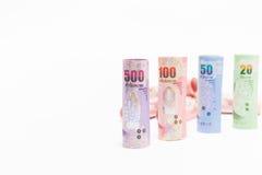 Тайская предпосылка денег банкнот Стоковое Фото