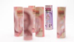 Тайская предпосылка денег банкнот Стоковые Фото
