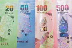 Тайская предпосылка денег банкнот Стоковое фото RF