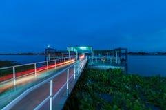 Тайская пристань рекой Chaopraya Стоковая Фотография RF