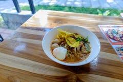 Тайская пряная лапша Стоковое Фото