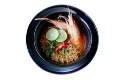 Тайская пряная лапша Стоковые Изображения