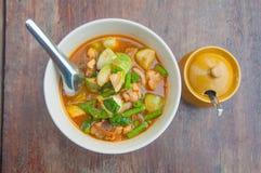 Тайская пряная еда карри-вегетарианца Стоковое Фото