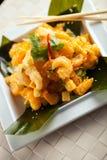Тайская плита креветки Стоковая Фотография RF